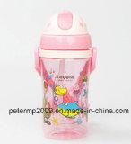370ml ягнится бутылка воды шаржа, пластичная бутылка воды, чашка милых малышей выпивая (hn-2903)