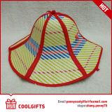 Vente en gros chapeau de paille à plis 6 pour voyager et cadeau