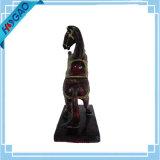 Cavalo de resina rara estátua chinês orientais antigas requintadas esculpidas à mão