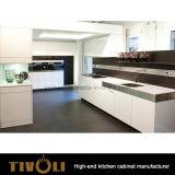 ベニヤのLamilnateの台所島Tivo-0283hと顧客用現代食器棚