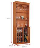 Gabinetes de cozinha de madeira laminados MFC modernos do armário (HX-DR354)