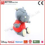 中国の子供のための製造者によって詰められる柔らかいプラシ天のサイのおもちゃ