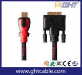 Hochgeschwindigkeits-HDMI zum DVI Kabel mit äußerer Einfassungs-Umhüllung
