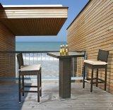 Открытый бар обставлены плетеной мебели бар столом и стульями