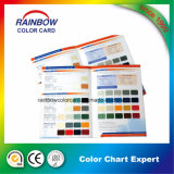건축재료 벽 페인트 색깔 카드 인쇄