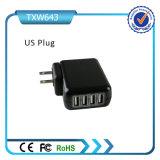 이동 전화를 위한 최신 판매 셀룰라 전화 USB 벽 충전기 4 운반 USB 벽 충전기