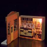 Mini juguete de madera casa de muñecas té verde Bar