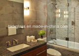 Salle de bains porte coulissante en verre de l'écran pour le projet de l'hôtel