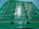 El doble verde de la tarjeta de circuitos de Soldermask echó a un lado PWB con HASL