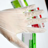 Перчатки PVC винила перчаток домочадца устранимые пластичные, перчатки винила чистки дома