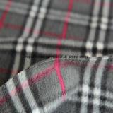 Tessuto polare spazzolato del panno morbido con il disegno grigio degli assegni