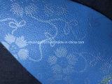 Cuoio blu di Microfiber della stampa della superficie di colore per il sofà