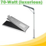 70W al aire libre impermeable todo en luces de una calle solares del LED