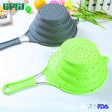 Tamis de lavage de passoire compressible matérielle de catégorie comestible de Kitcheware de silicones