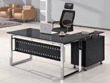 Forniture di ufficio di legno di vetro della scrivania del quadro superiore (HX-GL007)