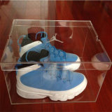 Cadre de chaussure acrylique clair tout neuf d'espadrille