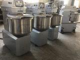 25kg Teig-Edelstahl-Fußboden-Spirale-örtlich festgelegter Filterglocke-Teig-Mischer des Mehl-50kg