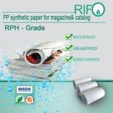 Rifo Marca lateral doble revestimiento PP papel sintético para el Catálogo