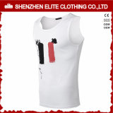 Vente en gros Fitness Wear Gym Cotton Polyester Singlets (ELTVI-10)