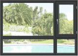Finestra della stoffa per tendine incorniciata legno placcato di alluminio poco costoso con doppio vetro lustrato