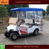 2+2 Seaterの折る風防ガラスが付いている電気ゴルフカート(雨カバーはchoosedできる)