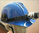Gorras de trabajo de plástico Casco de seguridad con luz LED Cert FM
