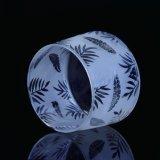 Frasco de vidro de vidro fosco com impressão de decalque