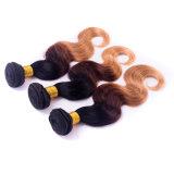 상단 9A 인도 Virgin 머리 Ombre 머리 연장 1b/4/27 Ombre 사람의 모발은 3개의 PCS 인도 Virgin 머리 똑바른 뭉치 직물을 묶는다
