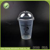 copos descartáveis plásticos biodegradáveis feitos sob encomenda de 15oz/450ml PP com tampas e palhas