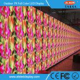 Schermo di visualizzazione impermeabile del LED di pubblicità esterna P8 di colore completo