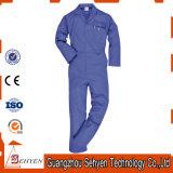 標準的な安全Workwearの安全100%年の綿の青い胸当てのつなぎ服