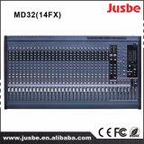 プロ段階システム32チャネルの可聴周波サウンド・システムのミキサーコンソール
