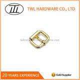 Fivela de ferro com rolo dourado e pino para bolsas