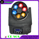 6X15W RGBW 4in1 LED Mini faisceau mobile Head Light