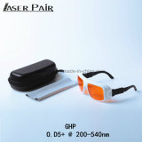 Occhiali di protezione del laser degli occhiali di protezione di sicurezza del laser di assorbimento Od5+@200-532nm per l'eccimeri, ultravioletto, laser verde