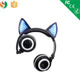 Fumetto sopra la cuffia senza fili stereo d'ardore della cuffia avricolare dell'orecchio LED Bluetooth
