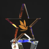 Trophée de cristal avec Five-Pointed Star