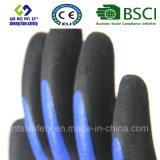 Латекс заморозил перчатки, перчатки работы безопасности отделки Sandy (SL-RS306)