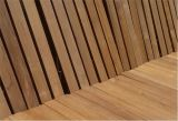 La preuve de l'eau Planchers de bois de teck asiatique en plein air