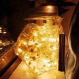 Самый последний свет 3m30LED шнура меди формы пробочки бутылки вина с колоколами