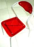 Restaurante Cadeira de metal acrílica colorida de mesa (LL-0028)