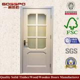 Обрамленная древесиной стеклянная конструкция двери кухни (GSP3-045)