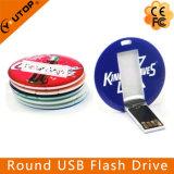 Disco istantaneo rotondo del USB di stampa variopinta su ordinazione (YT-3108)