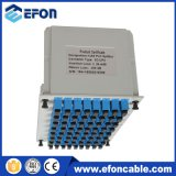FTTH 1X64 Plug-in Sc/APC Lgx de fibra óptica de la caja de la tarjeta de Cassete PLC Splitter