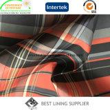 100 Taft-grosses Check-Futter gedrucktes Futter des Polyester-290t für Klage-Umhüllung der Männer