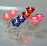 Kleur van Muti nam de Houder van de Kaars van het Glas van het Kristal voor Decoratie toe