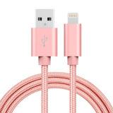 5V 2A Nylon isolé 8 broches foudre Câble USB pour téléphone Samsung, iPhone, iPad