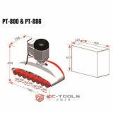 Древесина рабочей подачи инструмента 8 Колеса Powerfeeder возврата (PT - 886A)