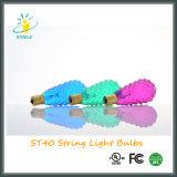 ST40 7W luz de la secuencia de Navidad bombilla incandescente Bombilla facetado