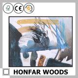 Pittura domestica variopinta di arte astratta della decorazione nel telaio di legno